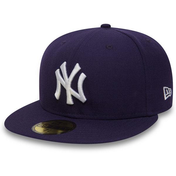 New Era MLB Basic NY Yankees Dark Purple White - 7 1/2