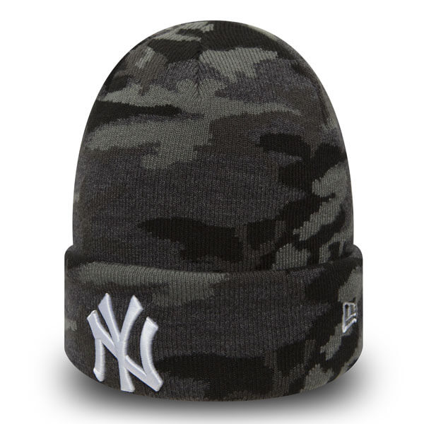 Kulich New Era MLB Esential Camo Knit NY Yankees Grey