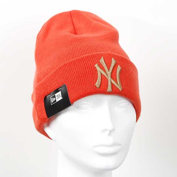 Kulich New Era MLB League Essential Cuff NY Yankees Knit Orange