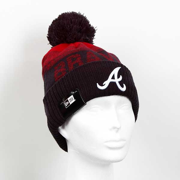 Kulich New Era MLB Sport 2 Cuff Knit Atlanta Braves Black Red