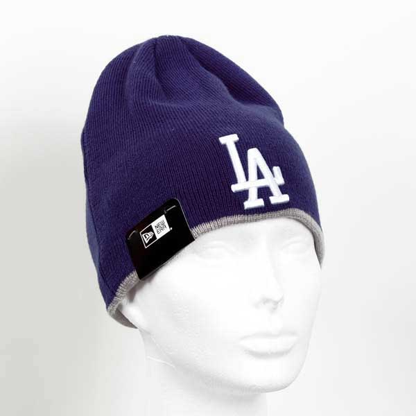 Kulich New Era MLB Team Skull knit LA Dodgers Navy