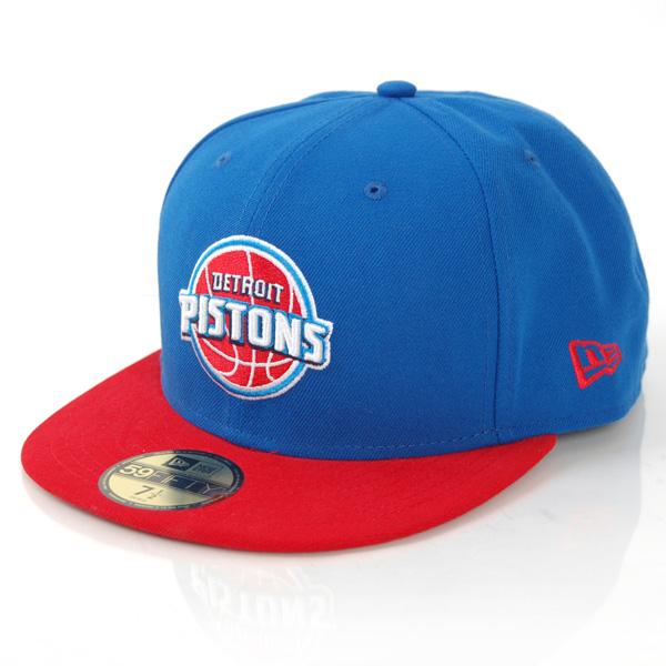 New Era NBA Team Flip Detroit Pistons Cap - 7 1/4