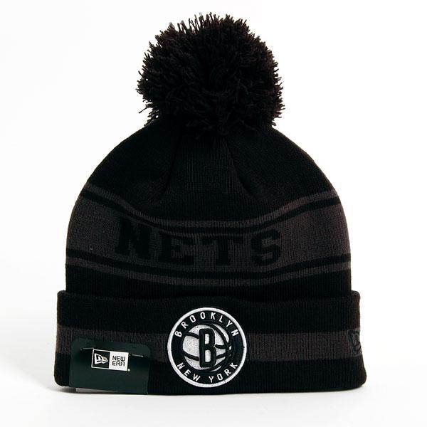 Kulich New Era NBA Team JAke Cuff Brooklyn Nets Knit Black