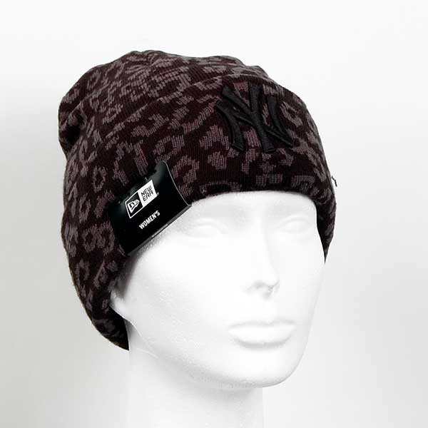 Kulich New Era Womens MLB Leopard Cuff Knit Black