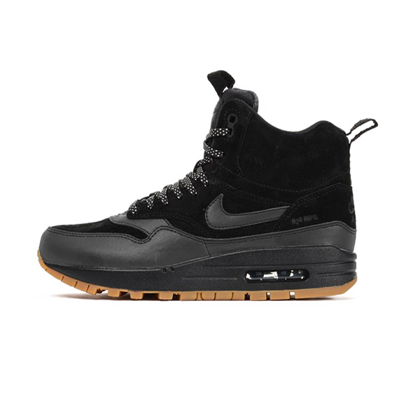 Nike WMNS Air Max 1 Mid Sneackerboot Black Black Gum Med Brown 685267-003 - 37.5 - 6.5 - 4 - 23.5 cm
