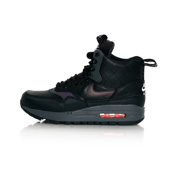 Nike WMNS Air Max 1 Mid Sneackerboot Reflective Black Black Bright Crimson 807307-001 - 40 - 8.5 - 6 - 25.5 cm
