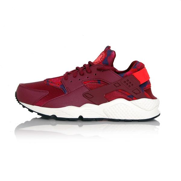 Nike WMNS Huarache Run Printed Deep Garnet Bright Crimson 725076-602 - 36 - 5.5 - 3 - 22.5 cm