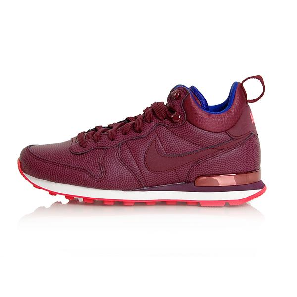 Nike WMNS Internationalist Mid Leather Dámské Tenisky Night Maroon 859549-600 - 44.5 - 12 - 9.5 - 29 cm