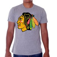 47 Brand Frozen Rope Tee Grey Chicago Blackhawks