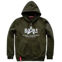 Pánská mikina Alpha Industries Basic Zip Hoody Dark Green