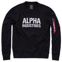 Pánská mikina Alpha Industries Camo Print Sweat Black White