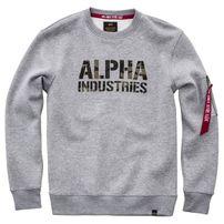 Pánská mikina Alpha Industries Camo Print Sweat Grey Heather