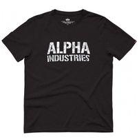 Pánské tričko Alpha Industries Camo Print Tee Black White