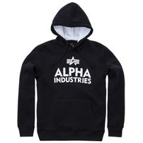 Pánská mikina Alpha Industries Foam Print Hoody Black White
