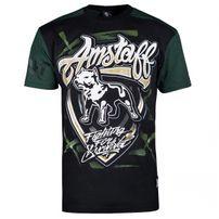 Amstaff Lizard Tee Black Green