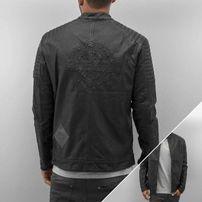 Bangastic Logo PU Leather Jacket Black