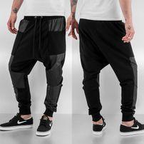 Bangastic PU Sweat Pants Black