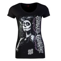 Blood In Blood Out Blood La Catrina Blanca Women T-Shirt