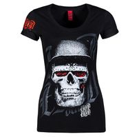 Blood In Blood Out Blood Skull Hat Black D-Shirt