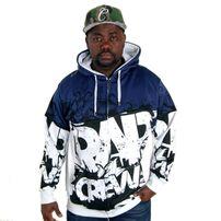 Bsat Rap Crew Hoodie Navy White