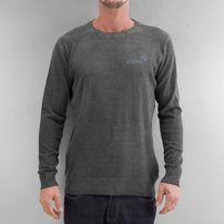Clang Oilwashed Knitted Sweatshirt Dark Grey