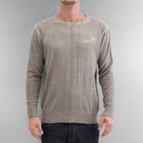 Clang Oilwashed Knitted Sweatshirt Stone