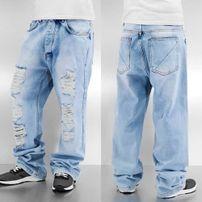 Dangerous DNGRS Destroyed Classic Baggy Jeans Light Blue