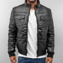 Dangerous DNGRS PU Leather Winter Jacket Black