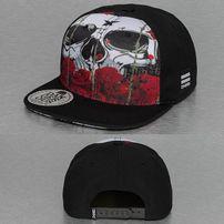 Dangerous DNGRS Skull & Rose  Snapback Cap Black