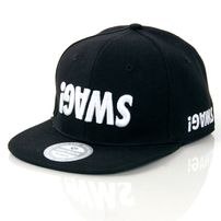 GangstaGroup Basic Swag! Logo Snapback Cap Black