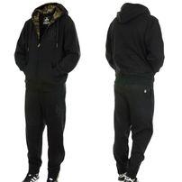 Hoodboyz Contrast Sweat Suit Black Camo