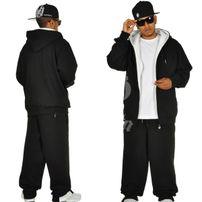 Hoodboyz Contrast Sweat Suit Black White