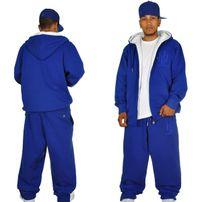 Hoodboyz Contrast Sweat Suit Royal Blue White