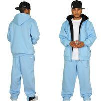 Hoodboyz Contrast Sweat Suit Sky Blue Black