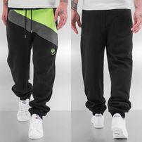 Just Rhyse Diagonal Sweat Pants Black/Green