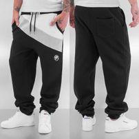 Just Rhyse Diagonal Sweat Pants Black/White
