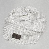 Just Rhyse Knit Scarf White/Grey