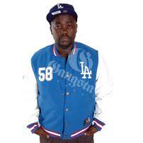 Majestic Athletics Dean LA Dodgers Letterman Jacket Blue