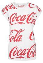 Mr. Tee Ladies Coca Cola AOP Tee white