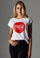 Mr. Tee Ladies Coca Cola Round Logo Tee white