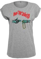 Mr. Tee Ladies Run The Jewels Goldchain h.grey