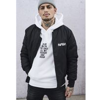 Mr. Tee NASA Worm Logo Bomber Jacket black