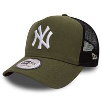 New Era 9Forty Trucker A-Frame Heather NY Yankees Army Green