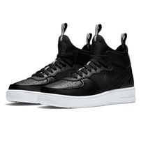 Nike Air Force 1 Ultraforce Mid Shoe Black Black White 864014-001