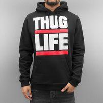 Thug Life Block Logo Hoody Black