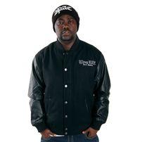 Thug Life Street Fighting Logo College Jacket Black TLF11JKT005-101