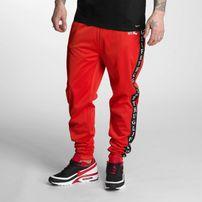Pánské tepláky Thug Life Two Stripes Sweatpants Red