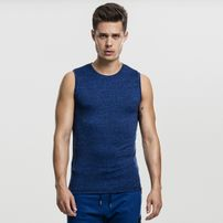 Urban Classics Active Melange Tanktop royal blue/black