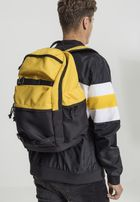 Urban Classics Backpack Colourblocking chrome yellow/black/black