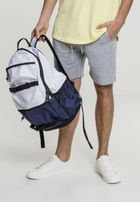 Urban Classics Backpack Colourblocking white/navy/black